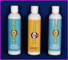 DinoVite 2 Btl SuprOmega Fish Oil + 1 Btl LickOChops Fatty Acids for Dogs & Cats