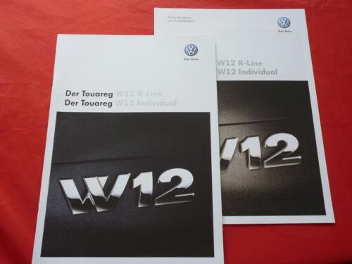 VW Touareg Typ 7L W12 R-Line Preisliste von 2008 W12 Individual Prospekt