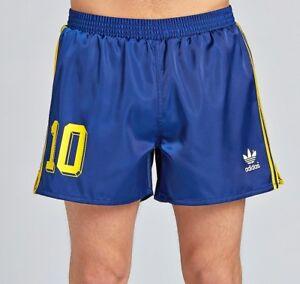 Retro Columbia Football Short blue Yellow | adidas Originals Shorts