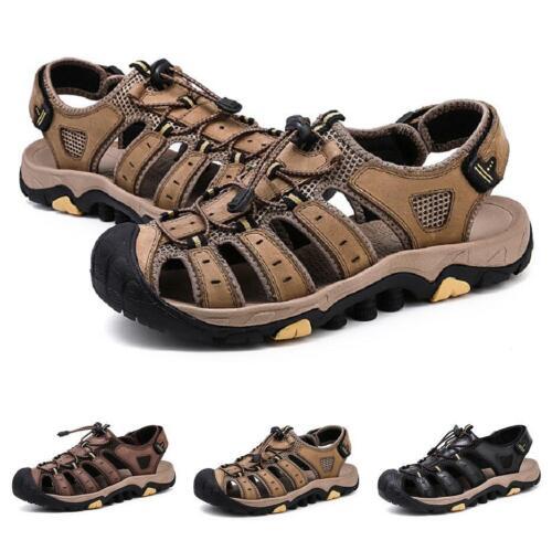 Roma Mens Beach Sandals Shoes Closed Toe Sports Outdoor Walking Non-slip Flats L