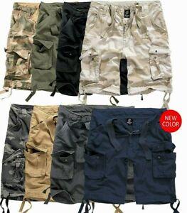 BRANDIT-Hommes-Bermuda-Cargo-Shorts-Genou-Pantalon-Court-Short-Ete-Army-NEUF