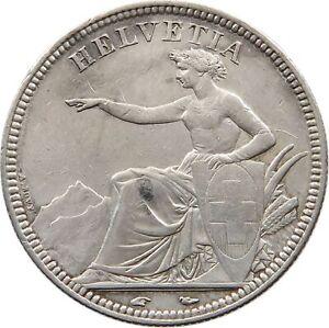 SWITZERLAND-5-FRANCS-1851-t89-341