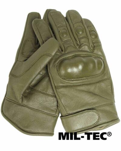 Mil-Tec TACTICAL GLOVES LEDER OLIV Fingerhandschuh Handschuh