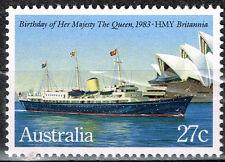 Australia Royal Ship Britania Xisit stamp 1983 MNH