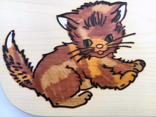 Petit-déjeuner Planche CHAT BOIS nom Gravure Vesper Planche Nature petit-déjeuner lamelles