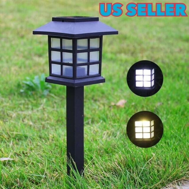 3 Pieces of LED Solar Lantern Garden PathwayWaterproof Landscape Lights