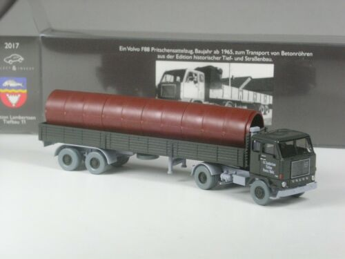11 Wiking C/&I Sondermodell Volvo F88 Sattelzug mit Betonröhren Lambertsen Nr
