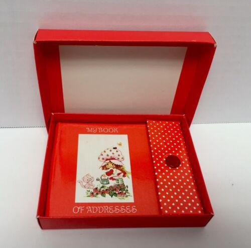 "Vtg Strawberry Shortcake /""My Book of Addresses/""  Book~  New in Box"