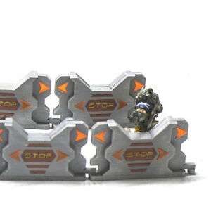 Details about Sci-fi Interlocking Barricades set of 10 for 28mm Infinity  Wargame Terrain