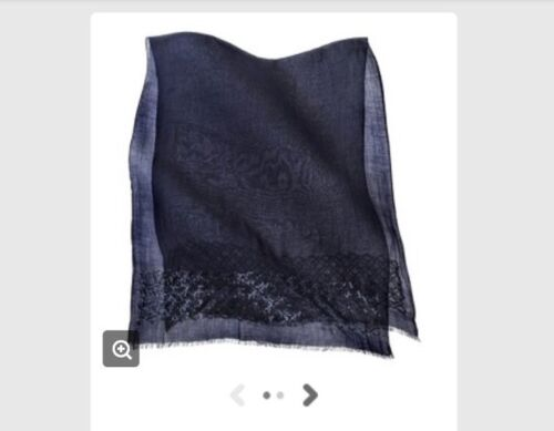 Merona solid scarf with sequins dark blue