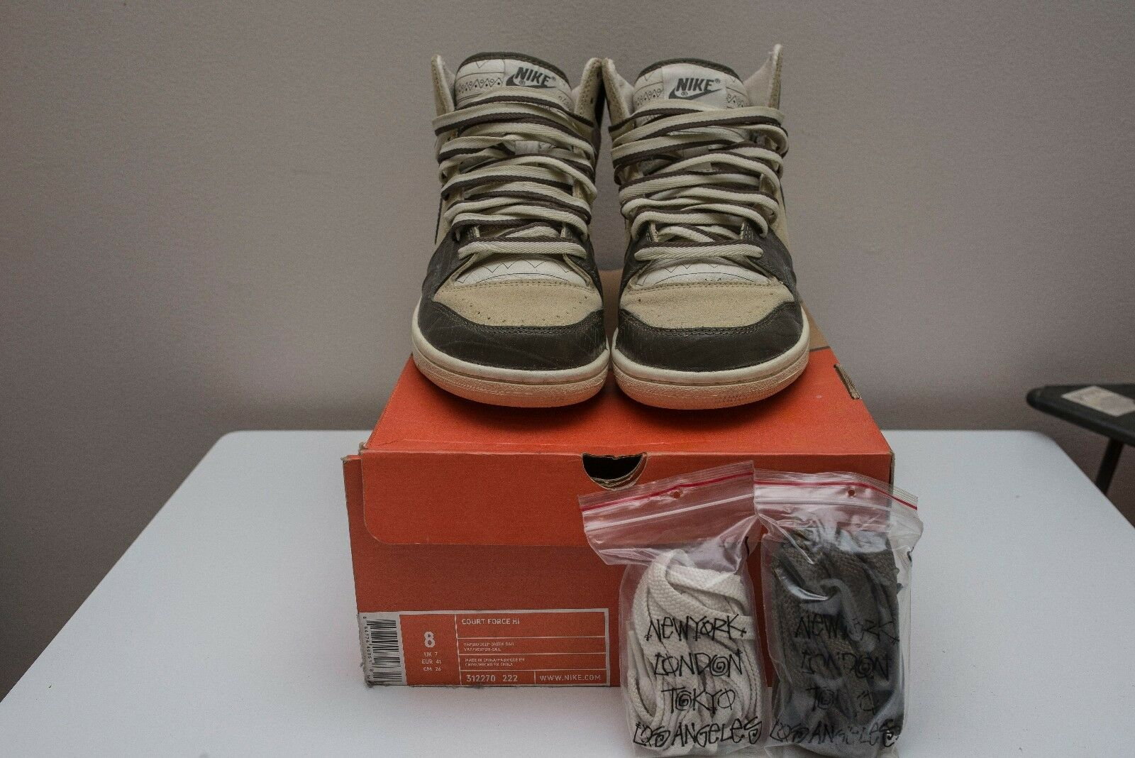NIKE STUSSY COURT FORCE OLIVE US 8 100% Authentic