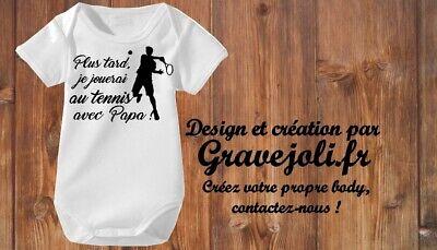 Body bébé futur footballeur comme papa un logo original et humoristique.