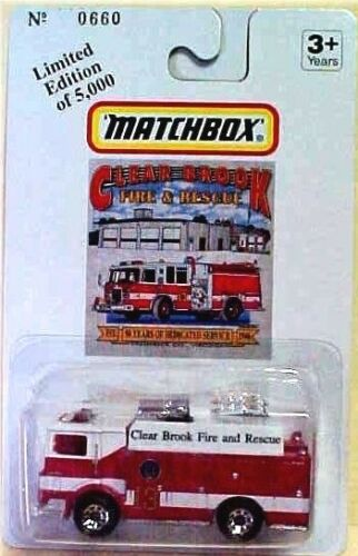 Power Wagon in Blister Pack Matchbox Custom Produced Clear Brook Vol Fire Dept