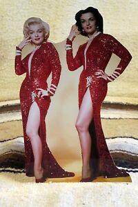 Marilyn-Monroe-amp-Jane-Russell-034-Gentlemen-Prefer-Blondes-034-Tabletop-Standee-10-5-034