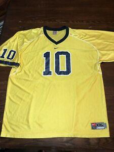 Details about Tom Brady University Of Michigan Wolverines Nike Jersey Size XXL Yellow GOAT EUC