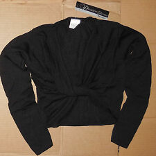 NWT MIRELLA Black Long Sleeve Tie Top Sweater Ladies Sizes M1104