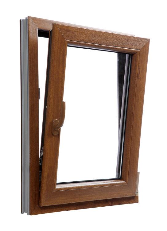 Finestre in PVC Farbee QUERCIA D'ORATA Aluplast Ideal 4000. Misura: 450 x 900 mm