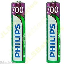 2 x AAA Rechargeable Philips SBC HB550S batteries Cordless phone 700mAh NiMh