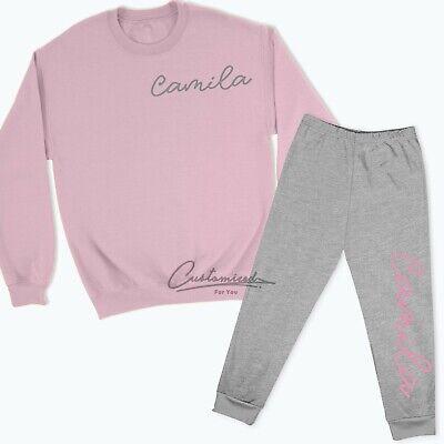 Personalised Signature Name Lounge Set Sweatshirt Sweatpants Tracksuit KidsTR4