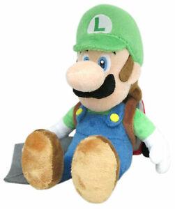 "Stand LUIGI Plush Doll Stuffed Toy 10/"" Kid Xmas Gift Uk Seller Super Mario Bros"