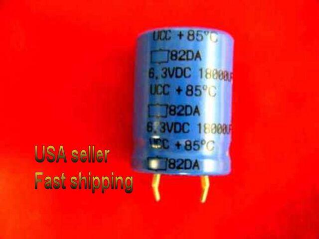 9 pcs   -   18000uf   6.3v   electrolytic capacitors  FREE SHIPPING