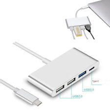 4in1 Type-C to USB 2.0 USB-C USB 3.0 Charging Adapter Hub Dock #V For Apple Mac