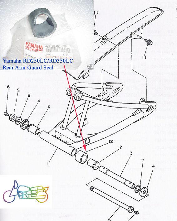 Yamaha 4l0 22151 00 Oem Swingarm Chain Cover Guard 90 00 Rt100 Rt