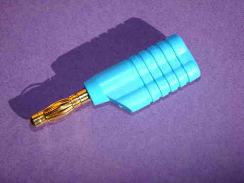 Bananenstecker Kaskadierbar Goldkontakt  4mm Blau