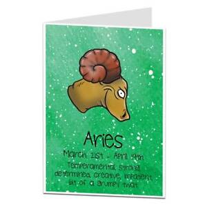 Image Is Loading Funny Horoscope Birthday Card Aries March 21st April