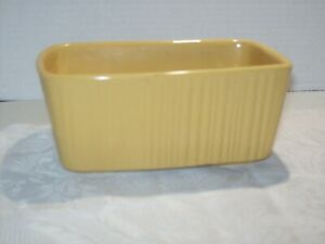 VINTAGE HULL POTTERY YELLOW CERAMIC RECTANGLE PLANTER MADE IN USA