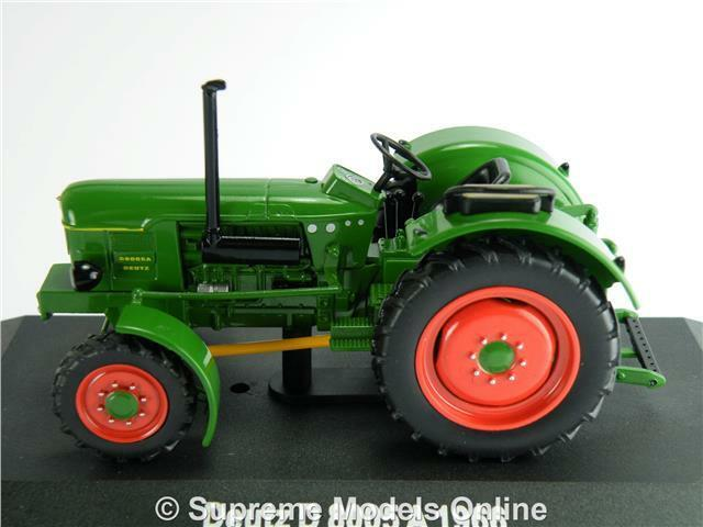 DEUTZ D 8005 A MODEL TRACTOR TRACTOR TRACTOR VEHICLE 1 43 SIZE GREEN 1966 IXO HACHETTE T34Z 6875ee