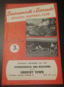 Bournemouth-v-Grimsby-Town-Programme-12-09-59