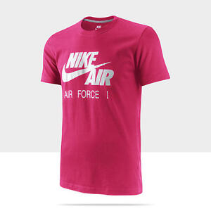 15614818479c Nike Men s Pink Nike Air Force 1 Short Sleeve Slim Fit T-Shirt ...