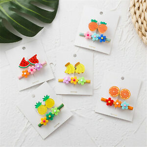 Colorful-Flower-Fruit-Hair-Clip-Pin-Candy-Color-Grips-Barrette-Hair-Accessories
