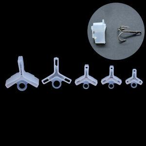 50-Stuecke-Angelhaken-Caps-Durable-Fishing-Drillinge-Jig-Fall-Abdeckung-BonnetsJ
