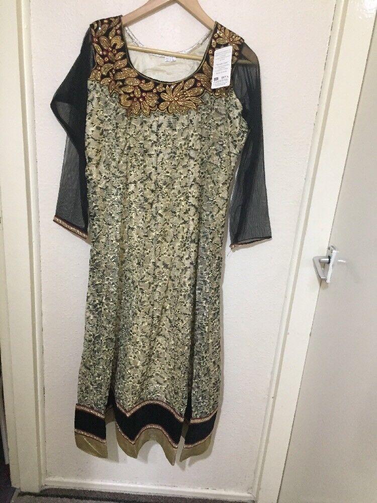 65962fc2f50 BN Indian Pakistani Salwar Ladies Girls Eid Party Fancy Net Dress.L Size  Kameez ohkqgu2321-Dresses