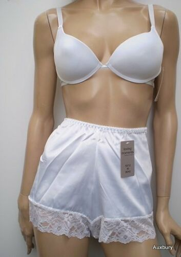 """Made In/""""UK/""""Beautiful Satin Style Lace French knickers Size10/>To/>26 Colour Choice"""