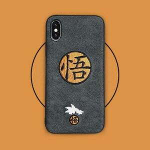 Japan-Cartoon-Anime-Embroidery-Goku-Phone-Cover-Case-For-Iphone-XS-11-pro-6s-7-8