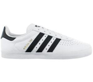 Details zu adidas Herren Sneaker 350 Originals Schuhe Weiß Leder Turnschuhe  Freizeit Y9762