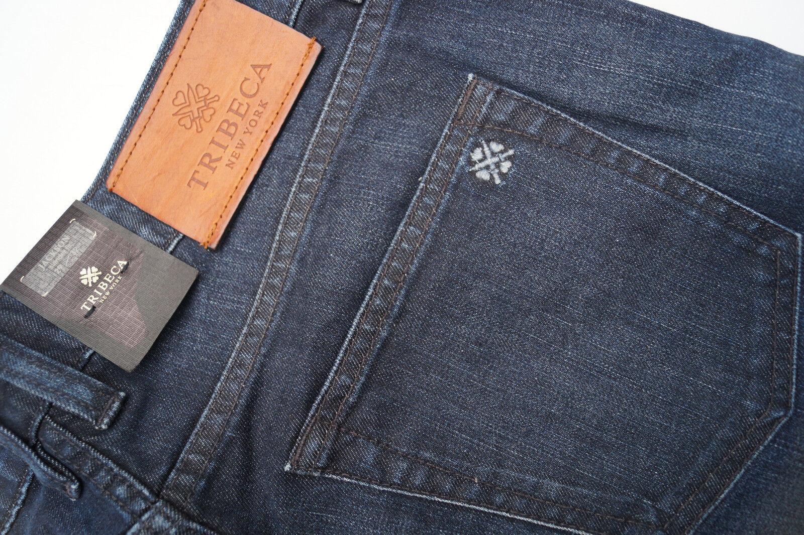 TRIBECA NY Jackson slender fit Herren Jeans stretch Hose 29 32 W29 L32 blau NEU
