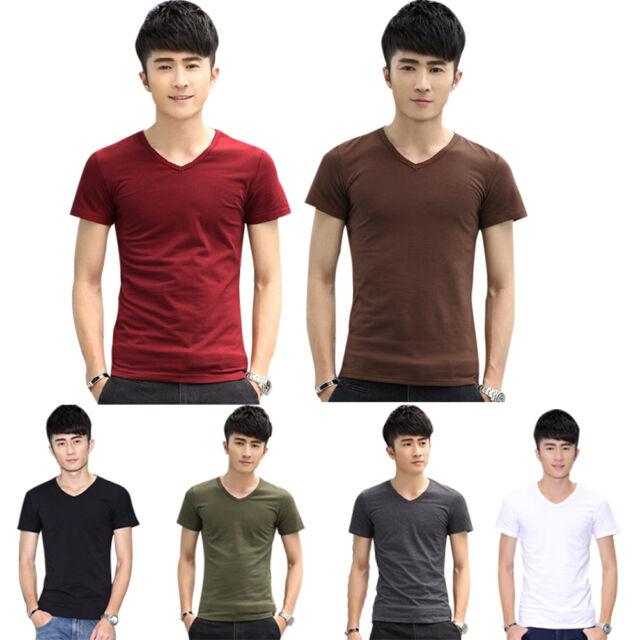 Sexy Fashion Men's Stylish Slim Fit Short Sleeve Casual Polo Shirts T-shirt Tops
