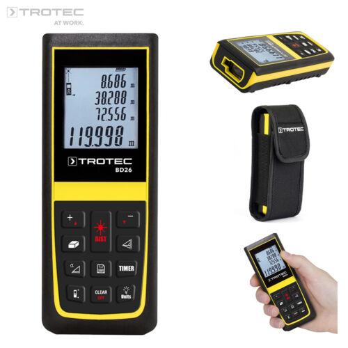 TROTEC Laser Entfernungsmesser BD26Entfernungsmessgerät Distanzmesser120 m
