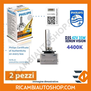 2 LAMPADINE XENON D3S PHILIPS AUDI A4 AVANT (8K5 B8) 2.0 TFSI FLEXIBLE FUEL KW:1
