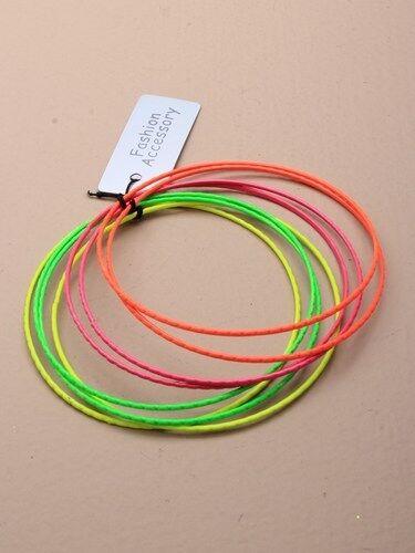 KB 2 x  of 8 coloured metal bangles making 16 bracelets