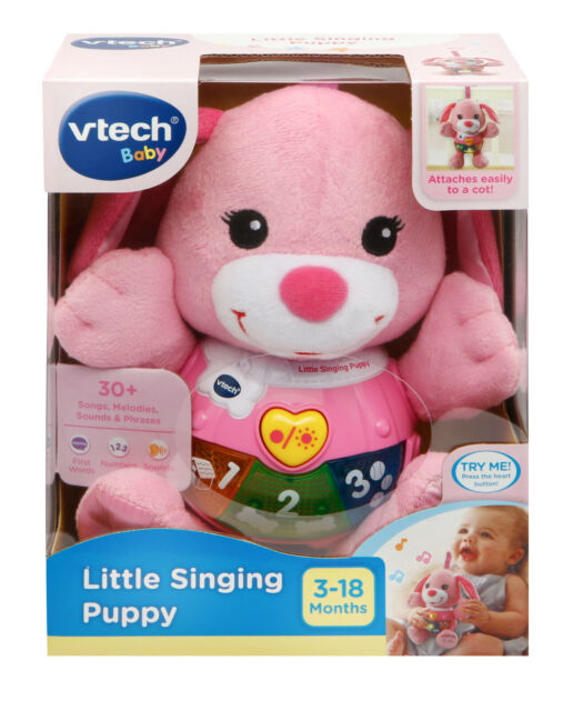 Vtech: Little Singing Puppy (Pink) - Lovable Learning Plush Toy