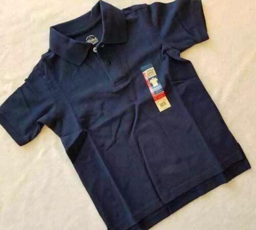 Garçons à manches courtes Bleu marine Polo Shirt NEUF avec étiquettes Taille 6-7