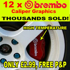 12 x brembo brake caliper decals, stickers, graphics!!!