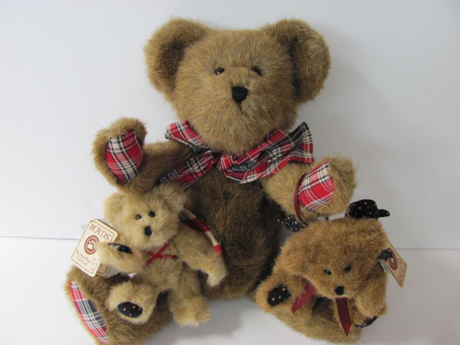 AMERICANA Boyd's Bears Set/3 Dustin- 904251 Yankee Doodle- 562469 Ross- 562402