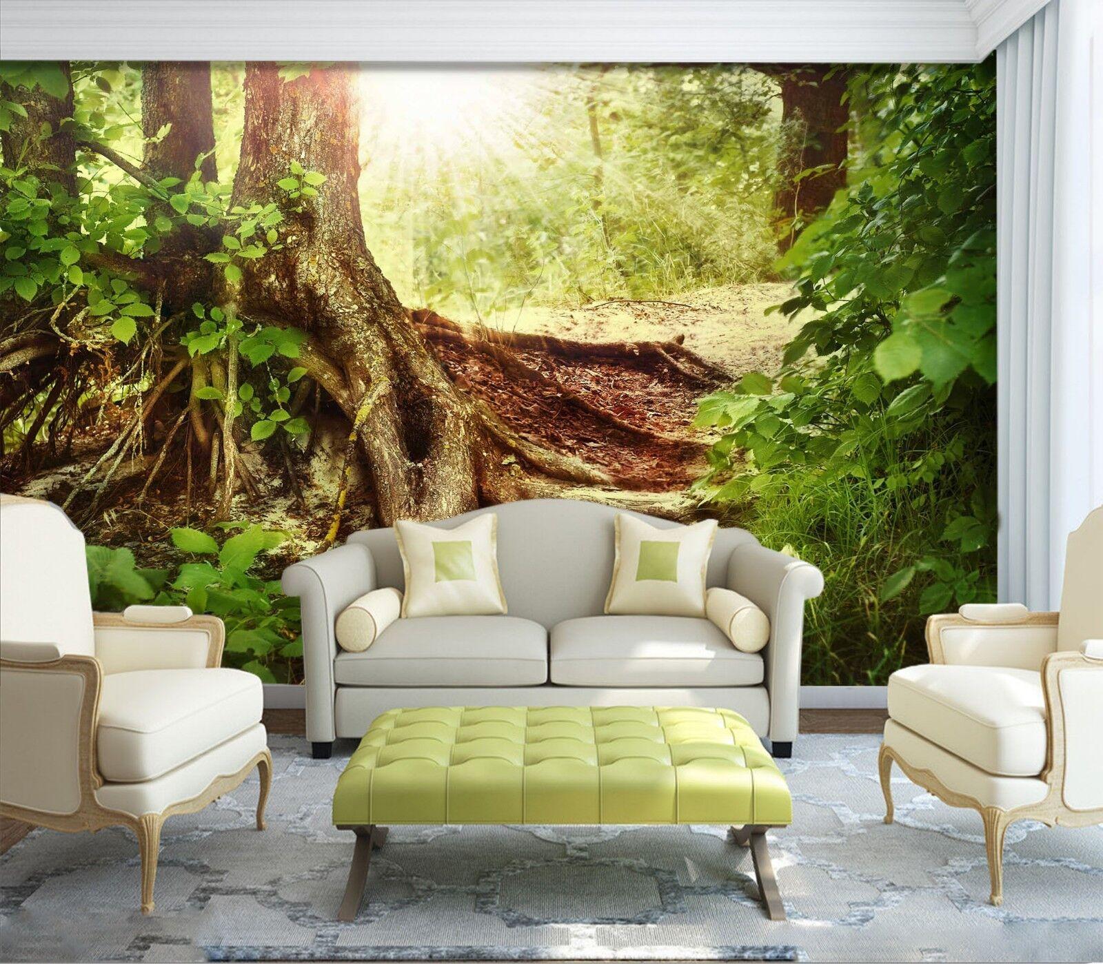 3D Grün Root Root Root Tree 727 Wallpaper Mural Wall Print Wall Wallpaper Murals US Lemon 6d19ec