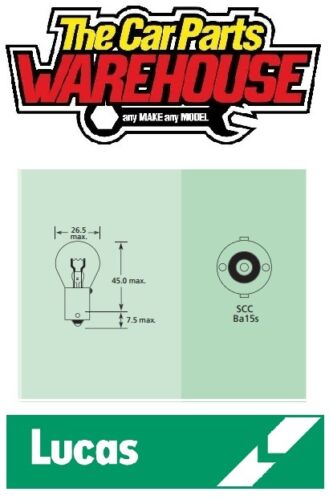 10 x ten 12v 21w Lucas 382 Stop // Brake light One Filament Bulb LLB382